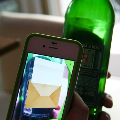 Beck's Message in a Bottle App in Use 3